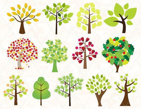 Digital Tree Clip Art Tree Clipart Green by TracyDigitalDesign ...