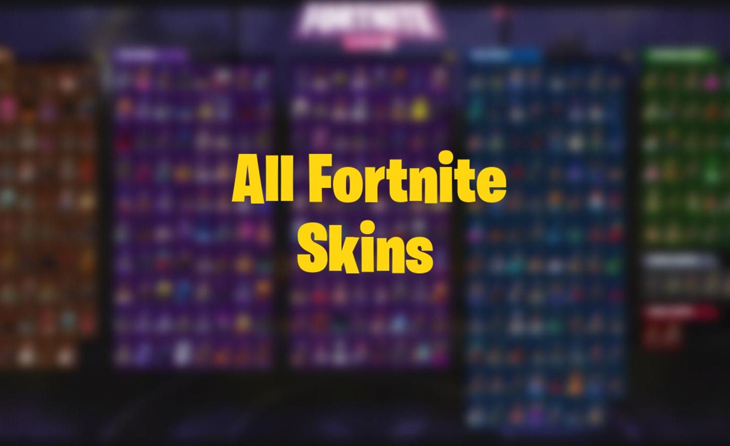 A Reddit user has created a graphic showing all Fortnite