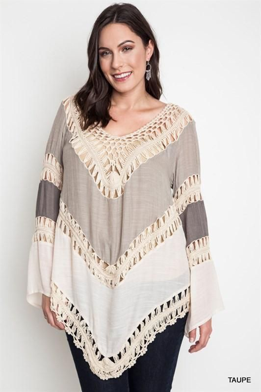 0114496d9f Plus Crochet in Cairns - Taupe in 2019 | Dresses | Fashion dresses ...
