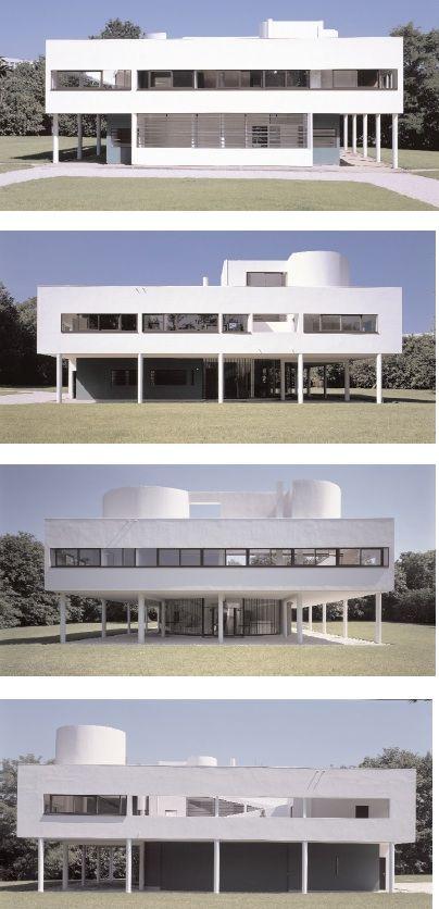 Pos e sur l 39 herbe la villa savoye ne d range personne le corbusier architektur architektur - Beruhmte architektur ...