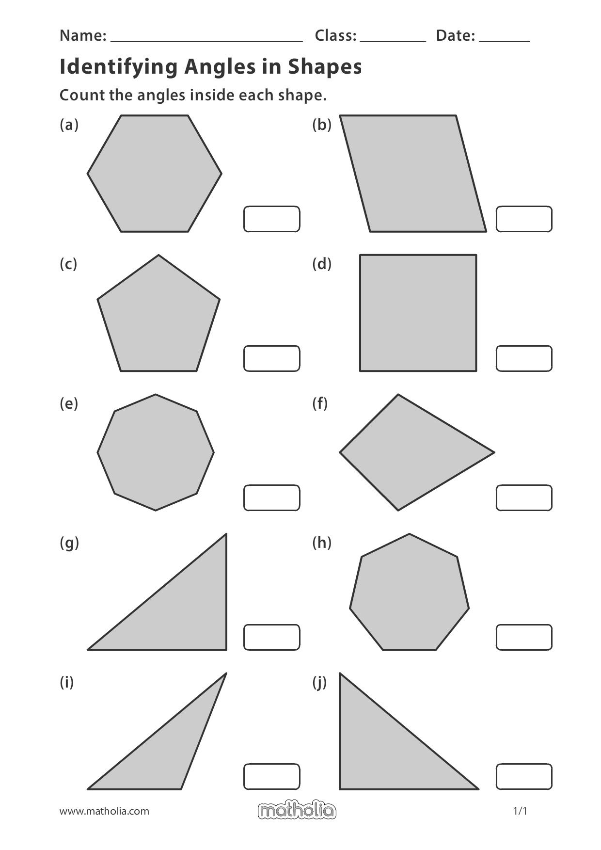 Identifying Angles On Shapes In 2020 Play To Learn Printable Worksheets Candy Math