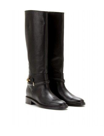 Balenciaga - LEATHER RIDING BOOTS