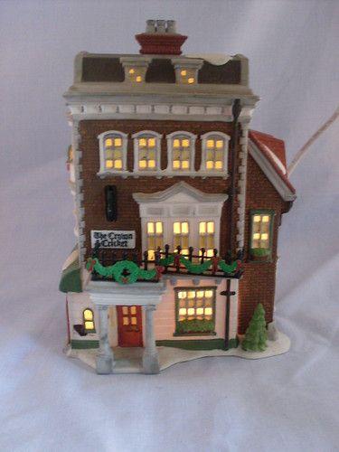 Dept 56 Dickens Village Crown Cricket Inn 57509 1st Edition Retired Ebay Casitas Casitas Mini Jardines Y Villas