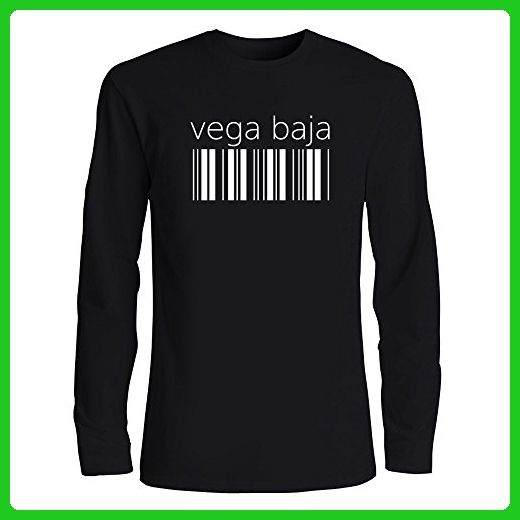 Idakoos - Vega Baja barcode - Cities - Long Sleeve T-Shirt - Cities countries flags shirts (*Amazon Partner-Link)