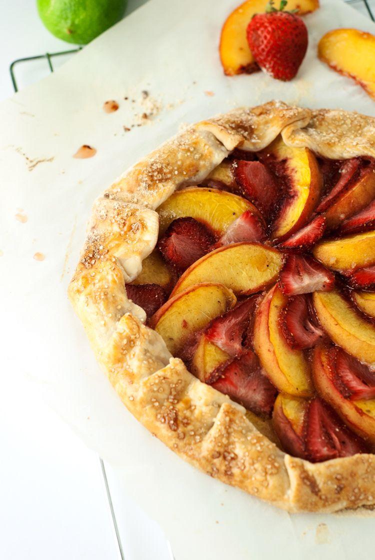 Strawberry Peach Galette Recipe   asimplepantry.com