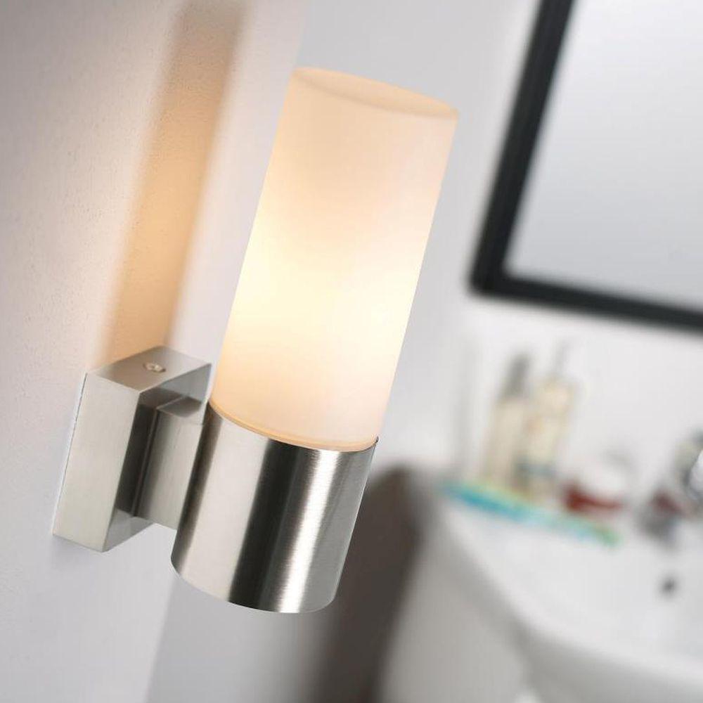 Badezimmer Wandleuchte Tangens Stahl Geburstet E14 Mit Bildern