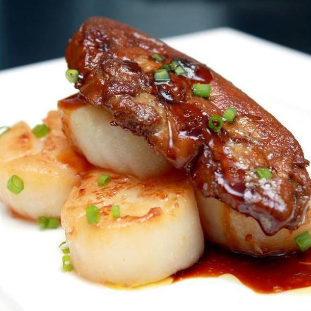 noix de saint jacques gratin es au foie gras frais. Black Bedroom Furniture Sets. Home Design Ideas