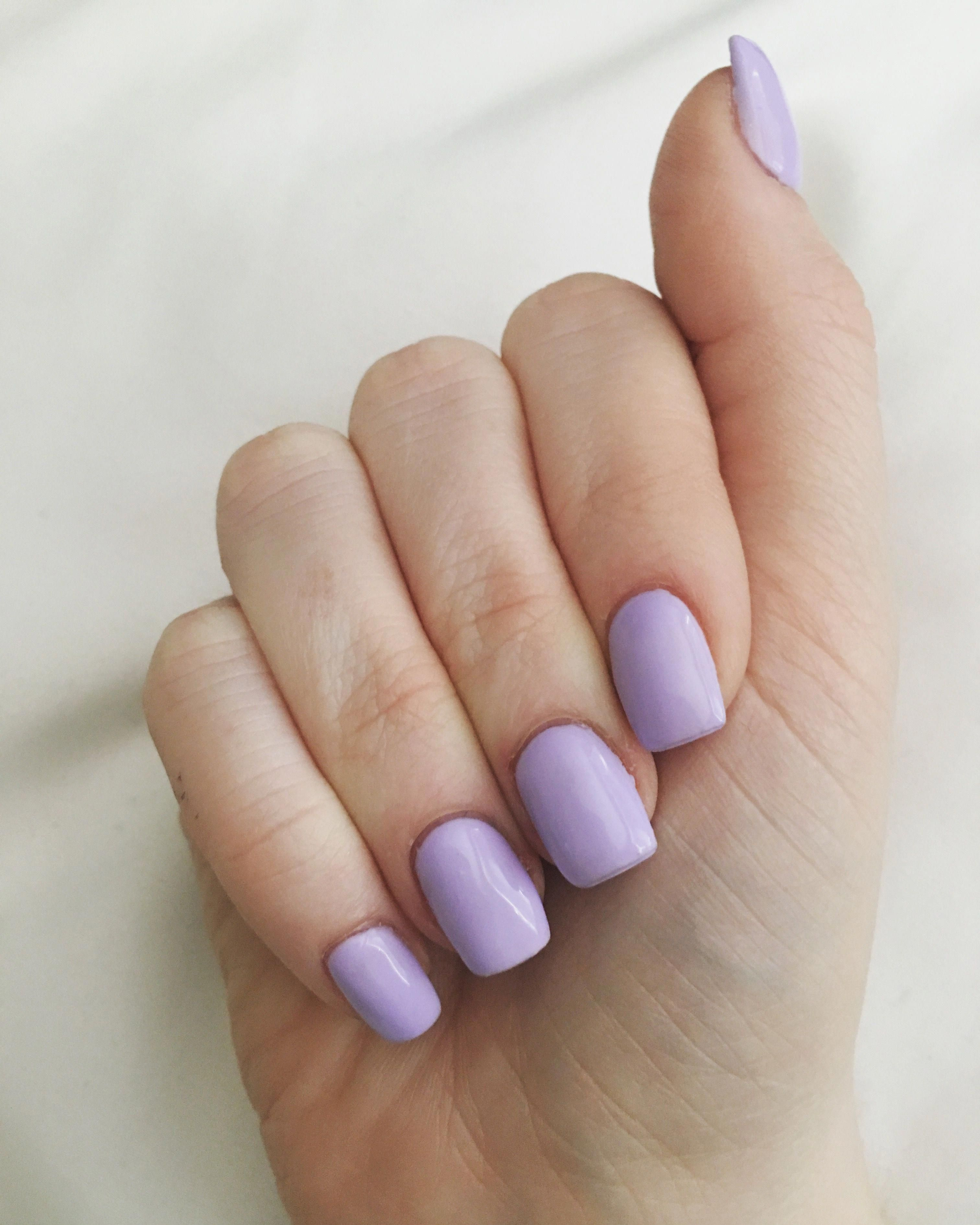I Was Excited To Discover That My Mani From Yesterday And My Wife S Outfit Today Were Basically Made To Go Together Lavender Nails Short Square Acrylic Nails Square Acrylic Nails