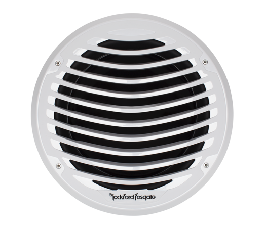"""The PM212SX is a white 12"""" subwoofer designed for marine watercraft or powersports applications. It features a color matched luxury grille and is UV and moisture resistant. Can be used in sealed, vented or infinite baffle installations."""