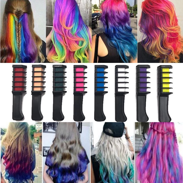Hair Color Dye Chalk Comb Mini Disposable Personal Salon Use Temporary Crayons Frisuren Haare