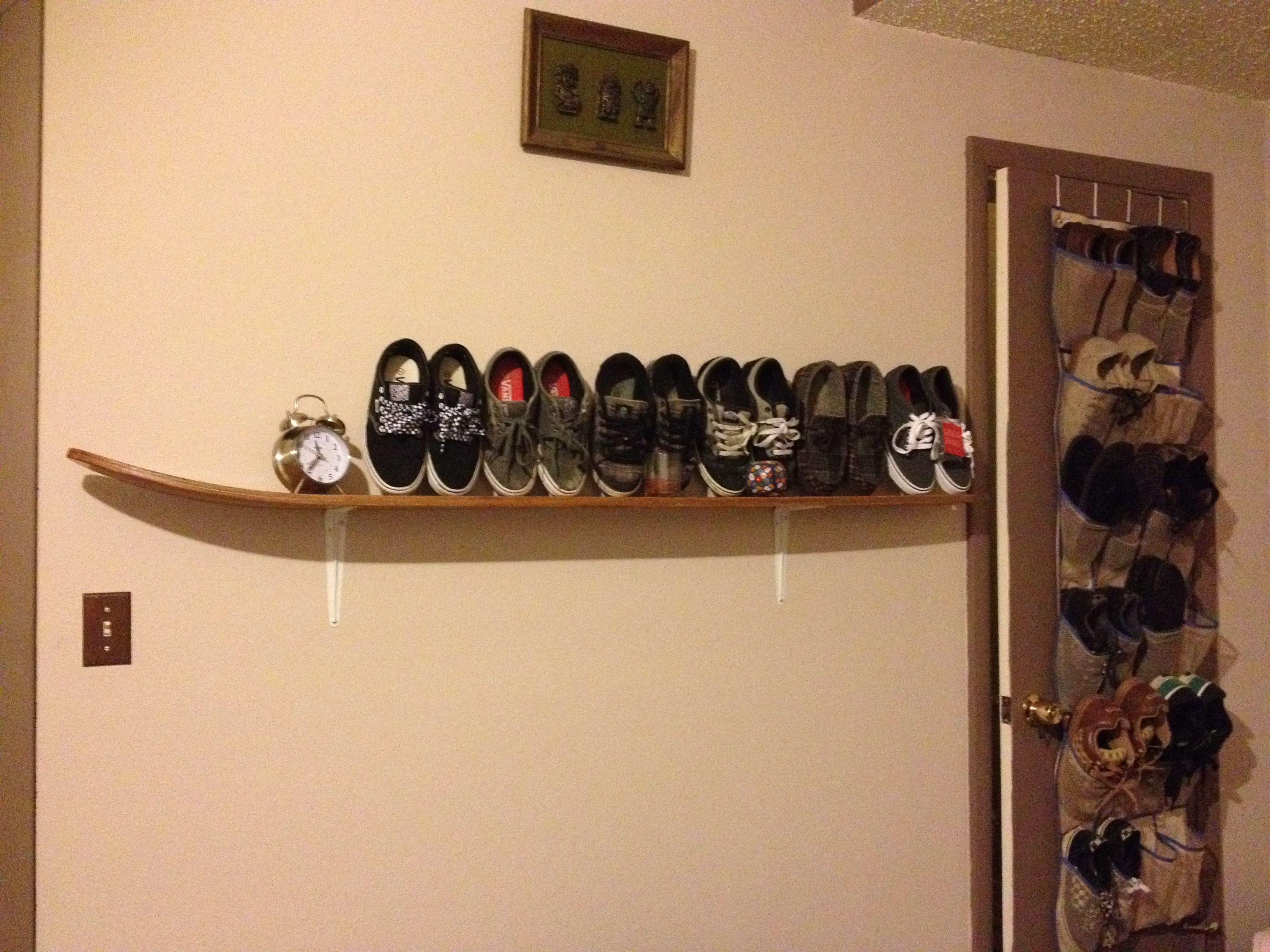 ski shelf :: add a second ski underneath to cover brackets and add ...
