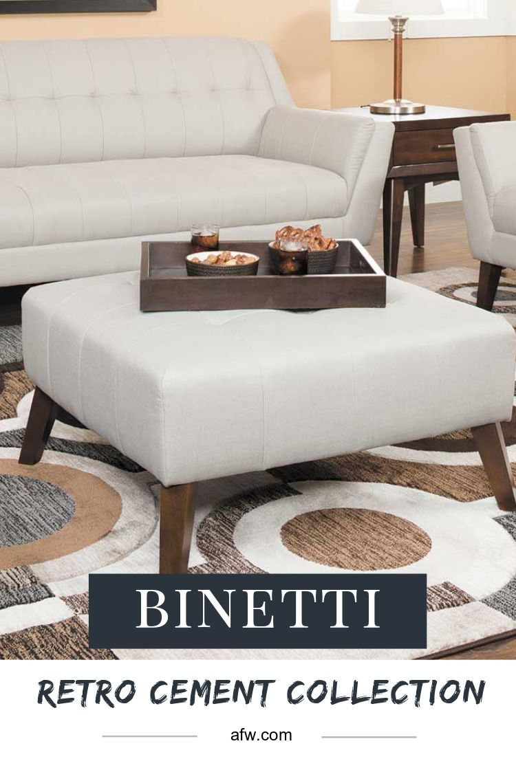 The binetti retro cement collection is a beautiful mid century modern collection available at american furniture warehouse