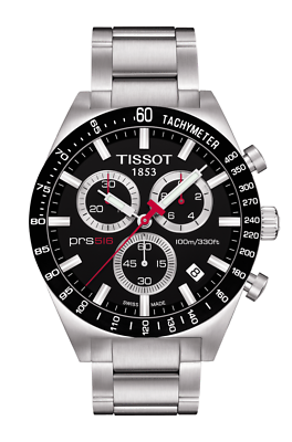 69ca993fdb5 Tissot PRS 516 Men's Black Chronograph Dial Watch T0444172105100  T044.417.21.05