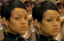Rihanna without makeup before and after...Makeup contest giveaway