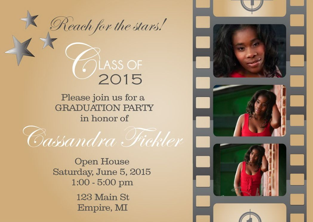 Film Strip Graduation Invitations Graduation Party Pinterest - graduation photo invitations