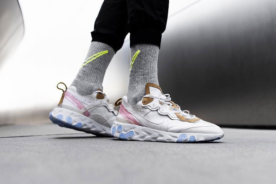 The Shoe Surgeon x Nike React Element 87 Leather Custom - On feet ... efe758eb47