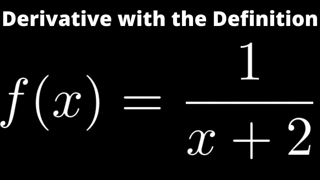 How to find the derivative of 1x 2 using the limit