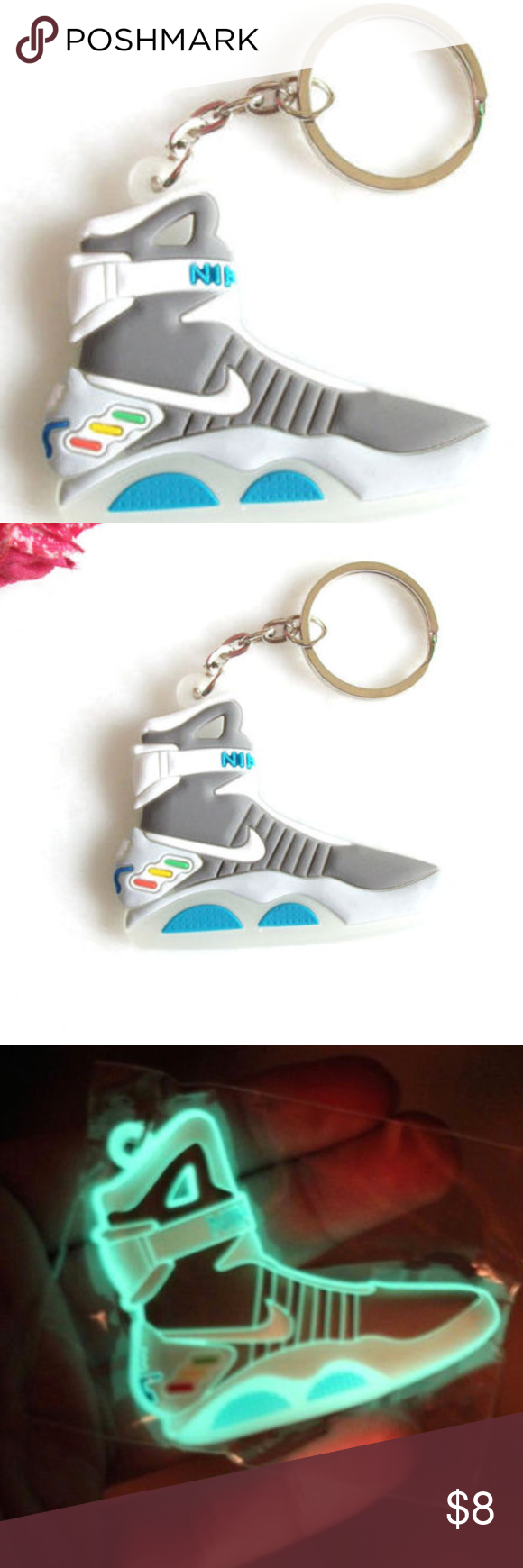 6cea49498dc4 Air Mag Keychain Back to the Future Glows In Dark New Glow In The Dark Air  Mag Back to the Future II Key chain This key chain makes the perfect gift  for ...