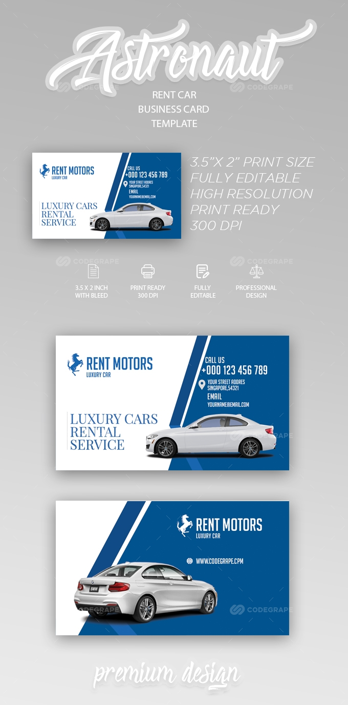 Rent A Car Business Card Templates Free Business Card Templates Printing Business Cards Printable Business Cards