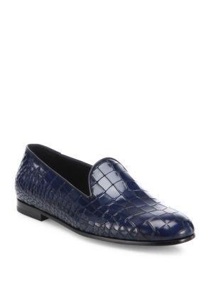1fa43a09ee3 GIORGIO ARMANI Croc-Printed Leather Loafers.  giorgioarmani  shoes ...