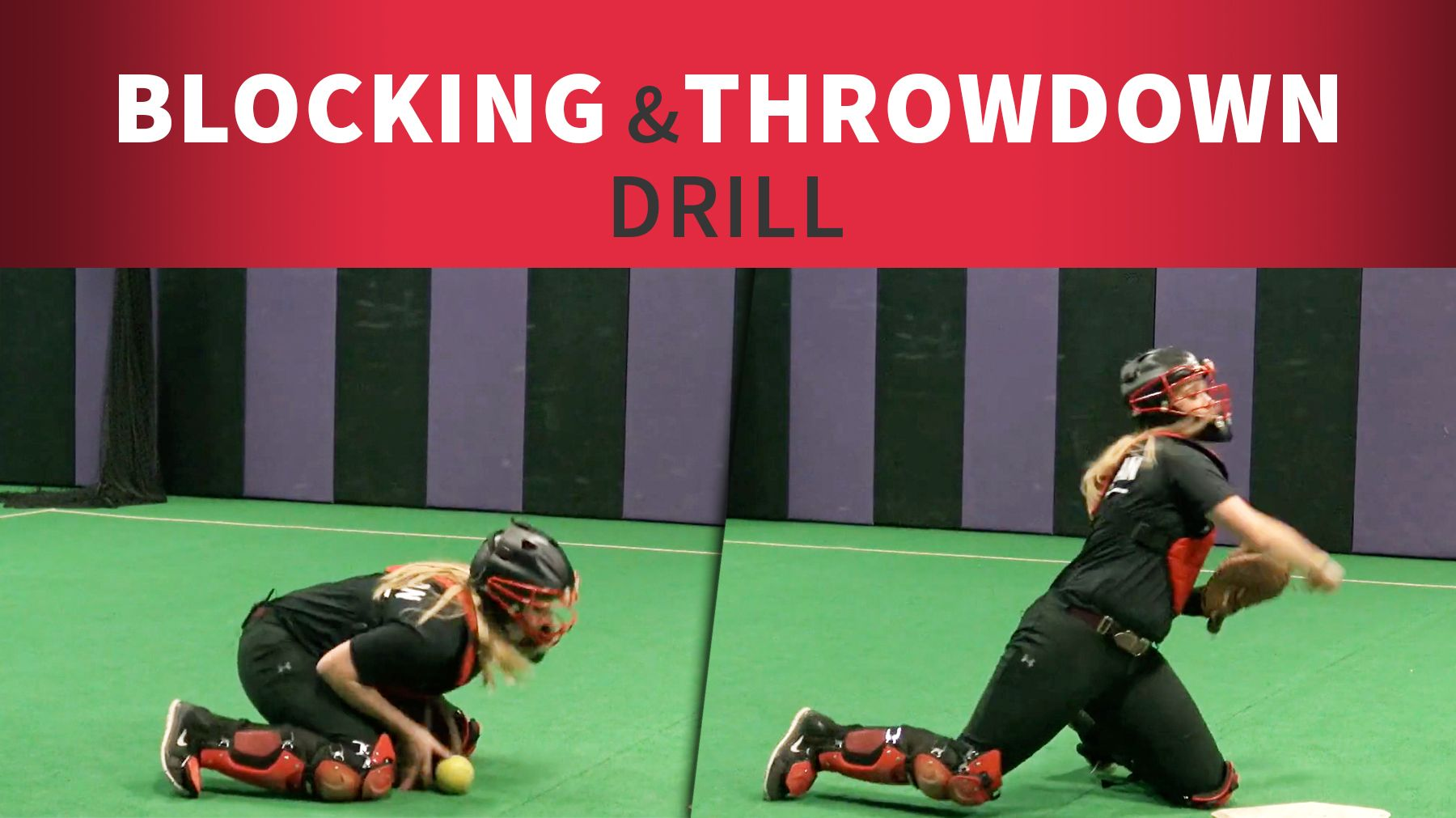 Catching: Blocking and throw-down drill