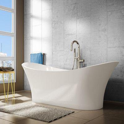 54 X 29 Freestanding Soaking Bathtub Soaking Bathtubs Tub