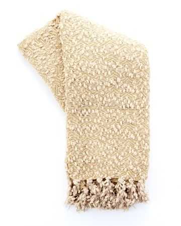 Fringed Woven Throw - Gold product photo Main View T360x450