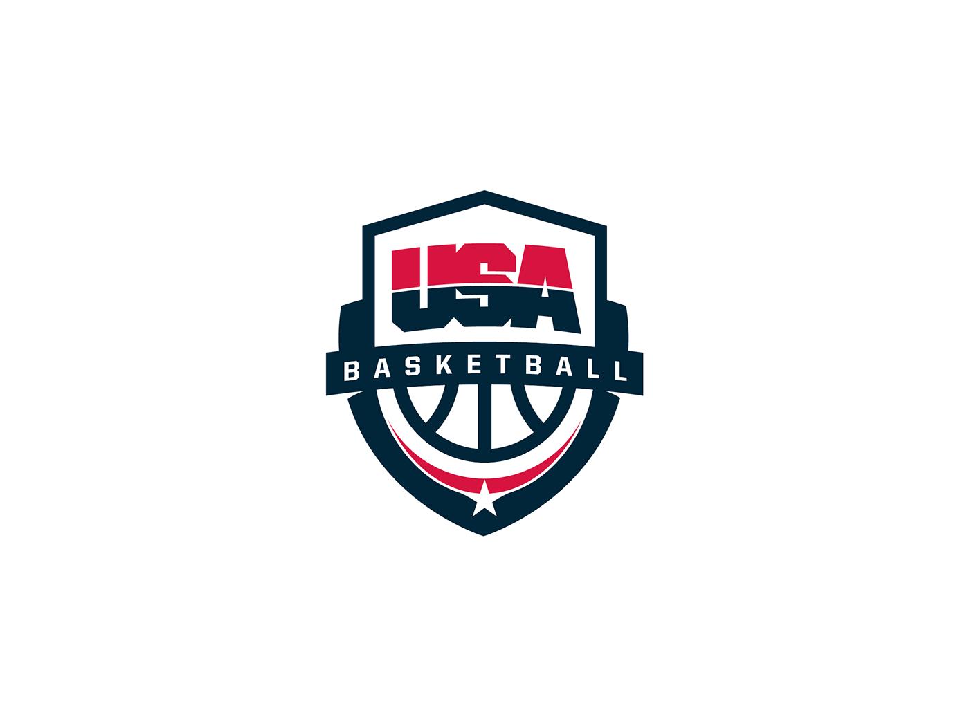 Usa Basketball Logo On Behance Usa Basketball Logo Basketball Team Usa Basketball