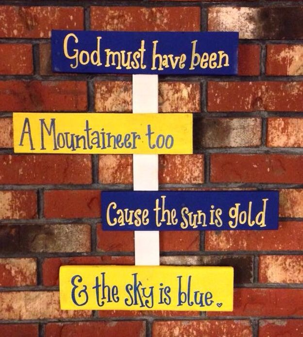 West Virginia Mountaineers Sign Homemade Pallet Pieces Home Decor WVU Shes Crafty By Sg