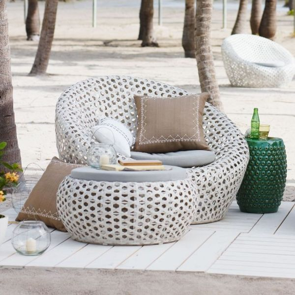 west elm sommerkollektion 2018 garten lounge m bel und accessoires pool lounge sessel
