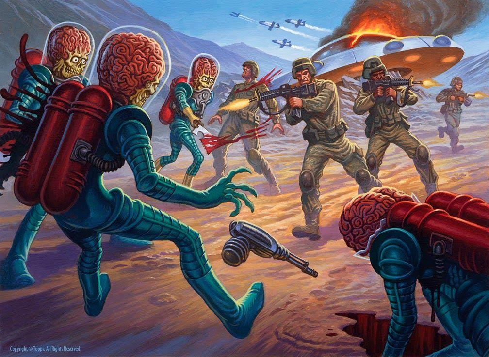 mars attacks cards story