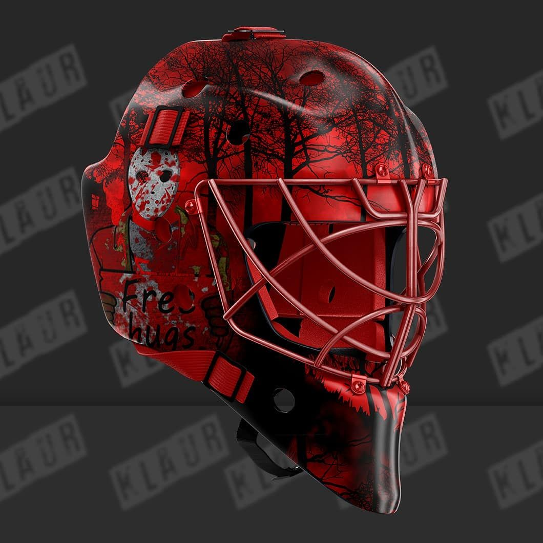 halloween themed hockey goalie helmet design hockey. Black Bedroom Furniture Sets. Home Design Ideas