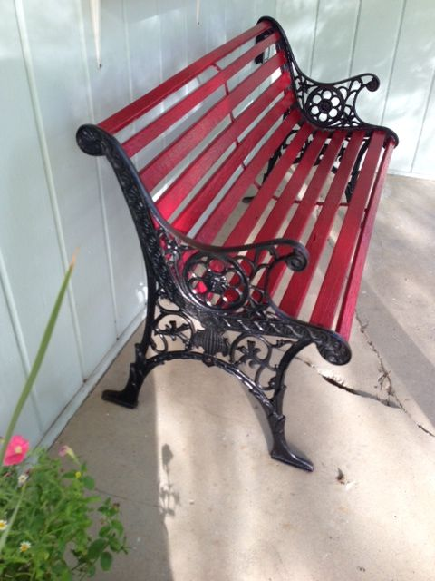 Re Finished This Old Bench With Images Wooden Bench Outdoor