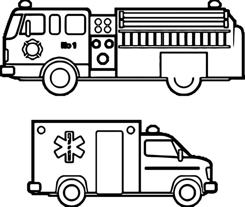 Fire Department Ambulance Car Coloring Page See the