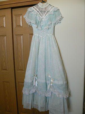 73604d5f09 Vintage Gunne Sax Jessica McClintock Blue Dresses, Vintage Dresses, Midi  Dresses, Vintage Lace