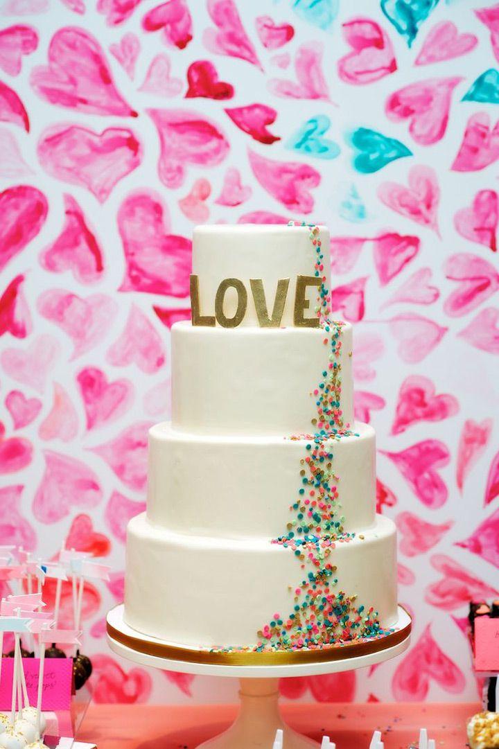 Confetti Wedding Cakes That\u0027ll Put a Smile on Your Face Pinterest - confeti
