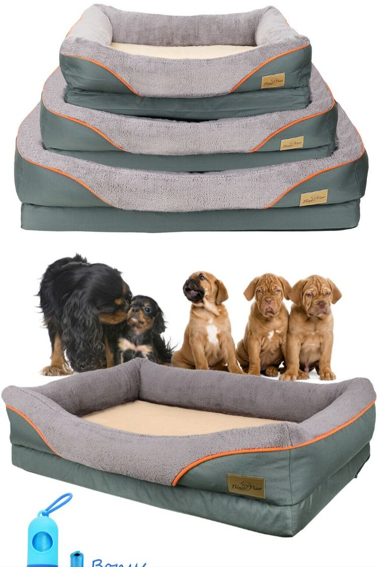 Orthopedic Dog Bed Lounge Sofa XLarge Thicken Foam Faux