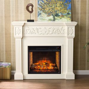 White electric fireplace and Electric fireplaces