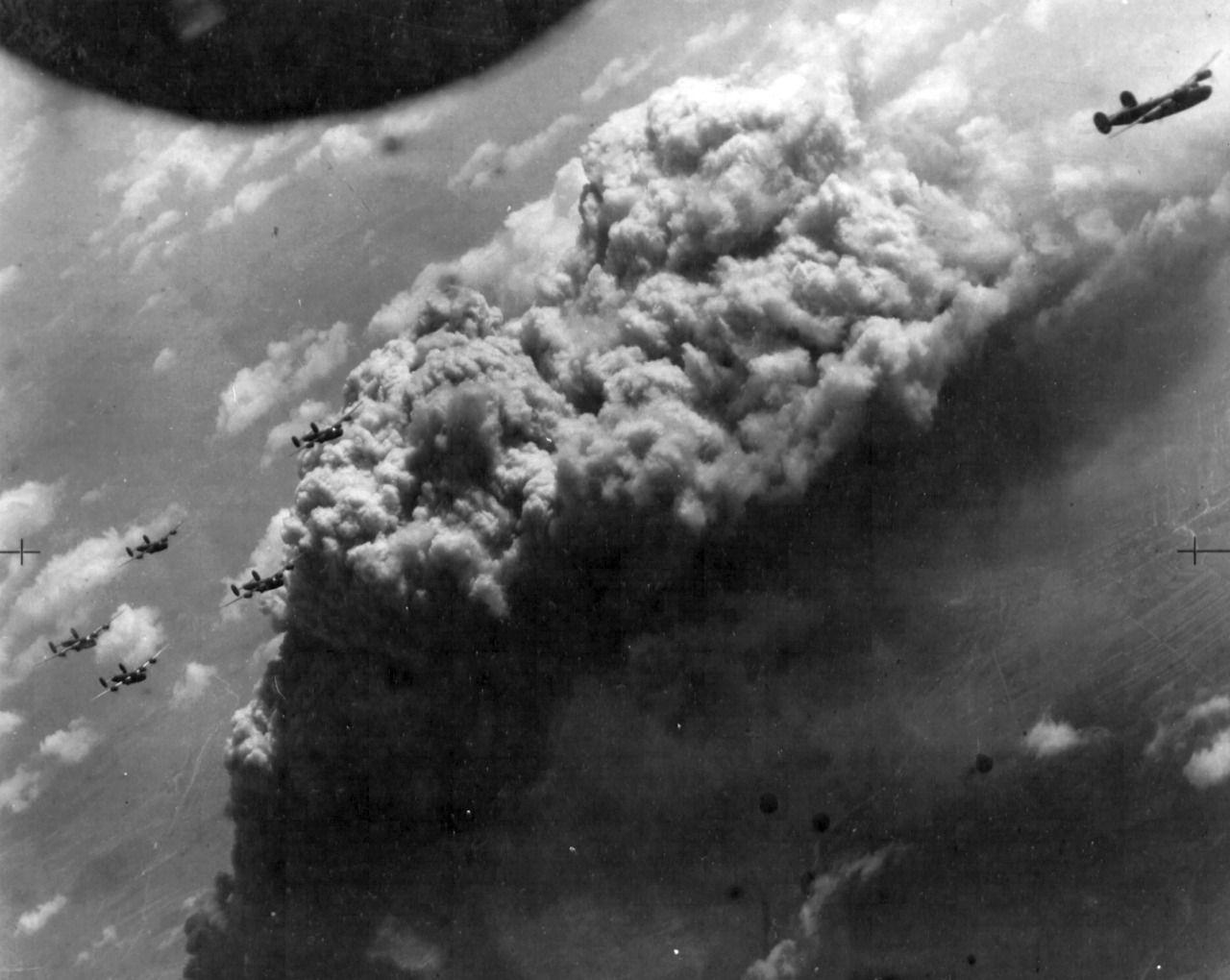 B-24 Liberators bombing Bratislava, Slovakia (June 16, 1944