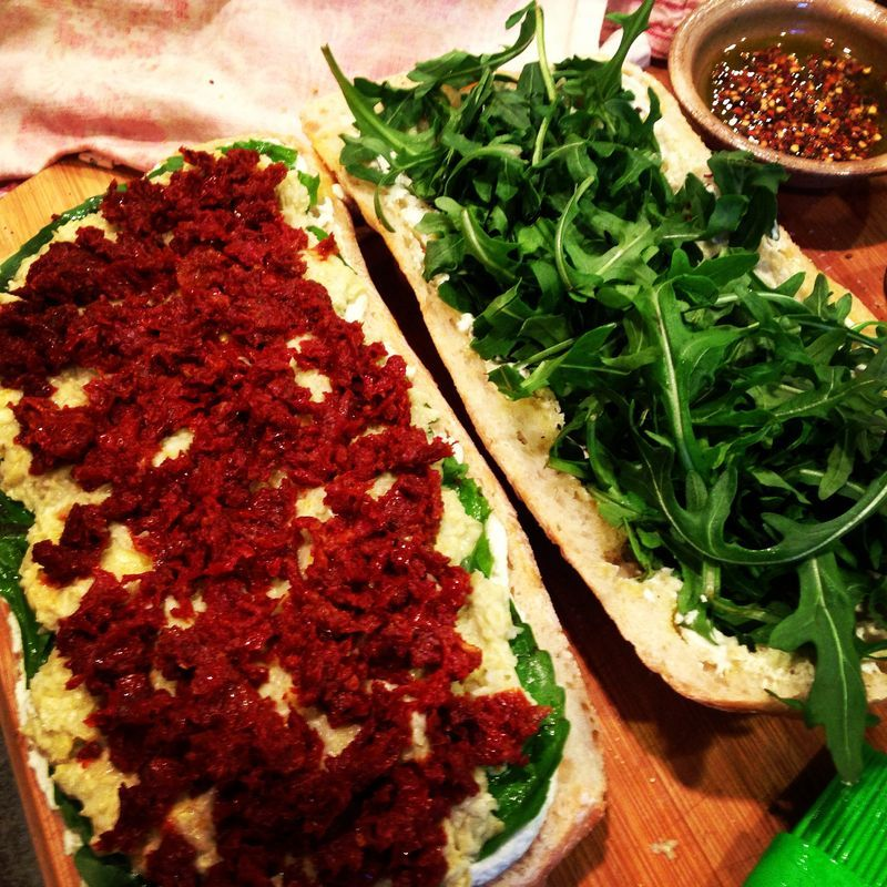 Italian Vegan Party Size Sandwich to feed your next crowd, vegan or not!