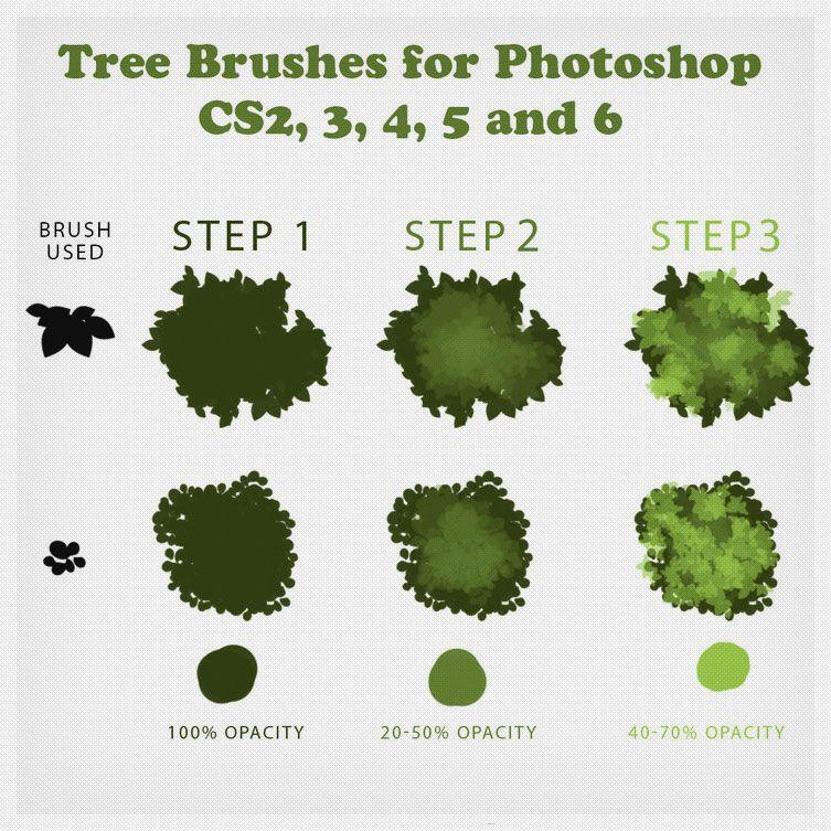 условные обозначения дерева в paint