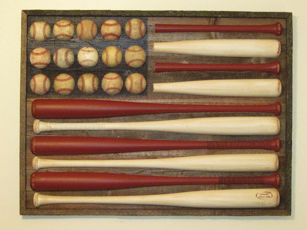 Whats more American than Baseball? An American flag made out of Baseball bats and balls! So cool!