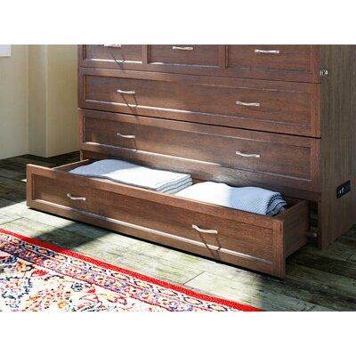 Red Barrel Studio® Kimsey Queen Storage Murphy Bed with Mattress | Birch Lane