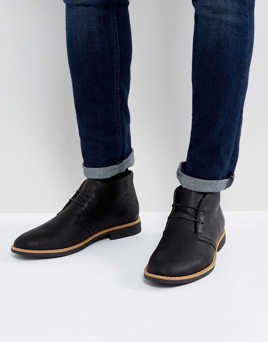 NEW LOOK DESERT BOOTS IN BLACK   BLACK newlook shoes