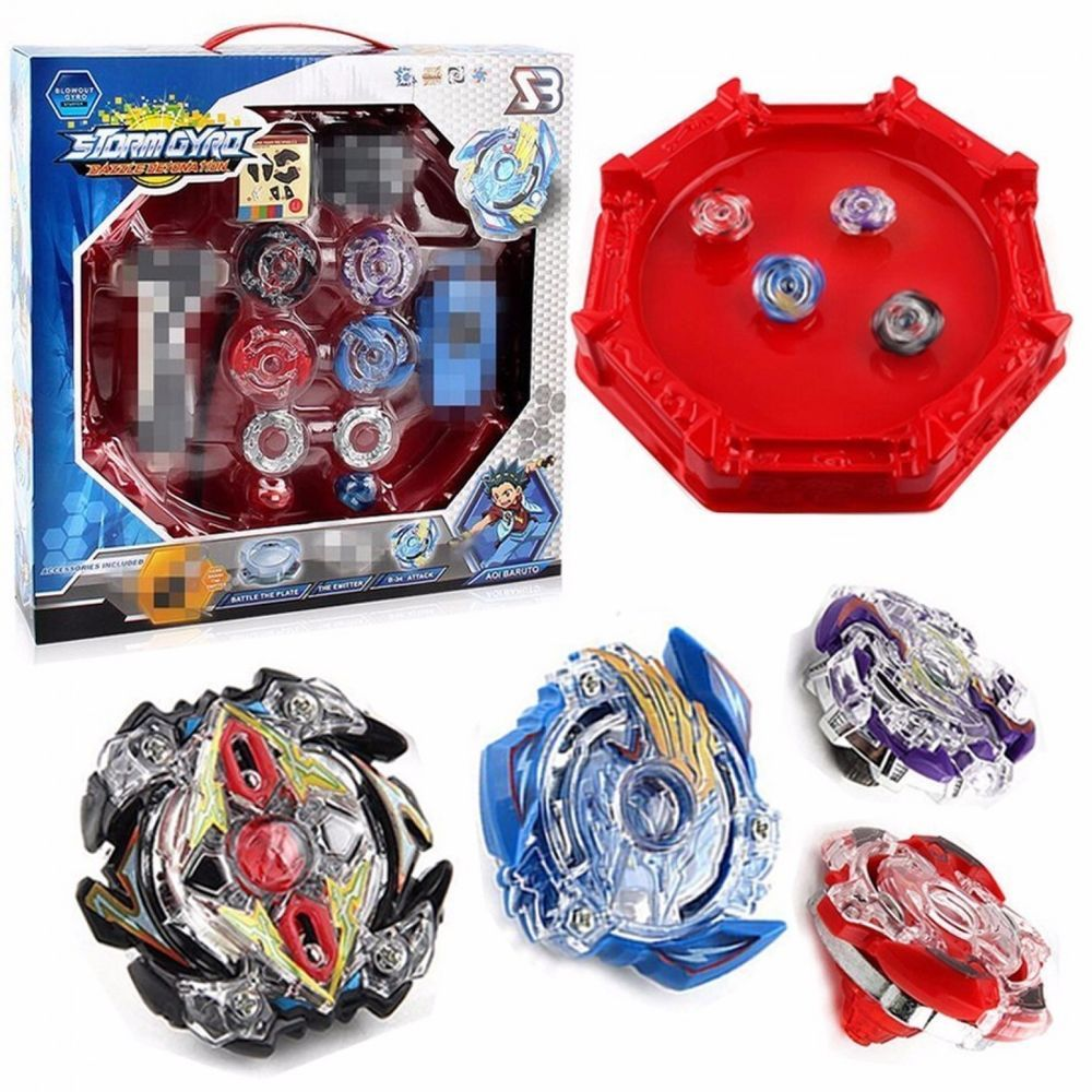 3d41f9c742b9d9 Beyblade Burst 4D Set With Launcher Arena Metal Fight Battle Fusion Classic  Toys  Unbranded