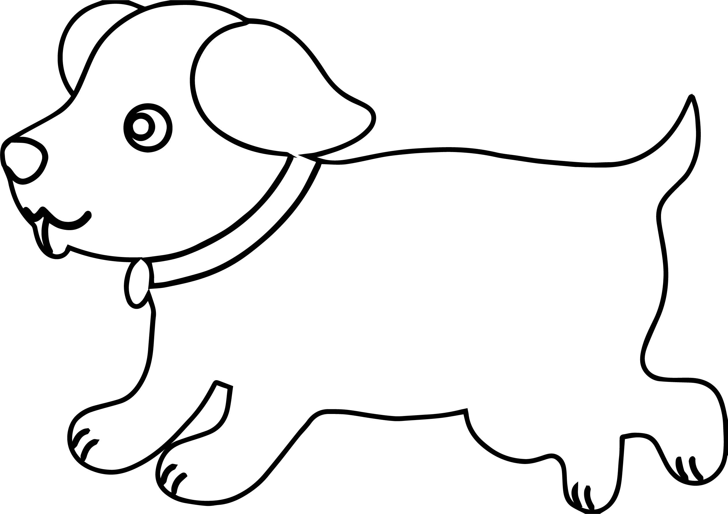 Awesome Puppy Outline Dog Puppy Coloring Page Puppy Coloring