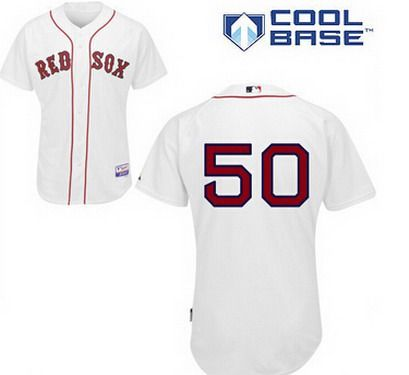 buy popular 0ea18 d8e44 official store boston red sox 50 mookie betts white jersey ...