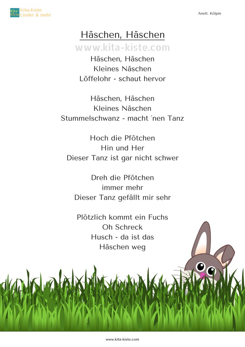 Häschen Häschen Bewegungs Gedicht Zu Ostern Für Kita