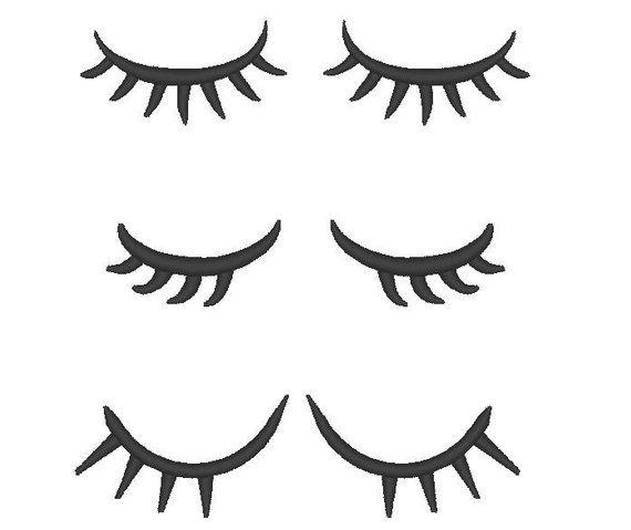 Blinking Eyes With Lashes