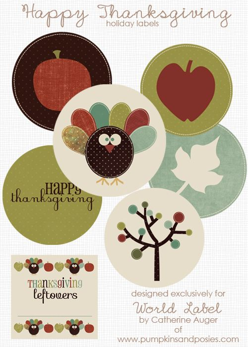 Free DIY Thanksgiving Labels in printable templates designed by - sale tag template